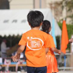 営団地区運動会 小学生用Tシャツ 着用写真画像