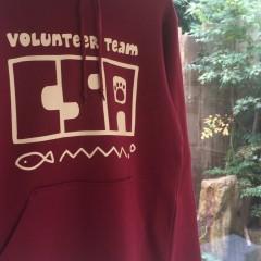 京都産業大学ボランティアチームCSAスウェットパーカのプリント画像